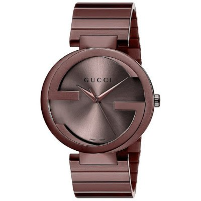 Gucci Watch | Interlocking G Unisex Brown Dial Brown Stainless