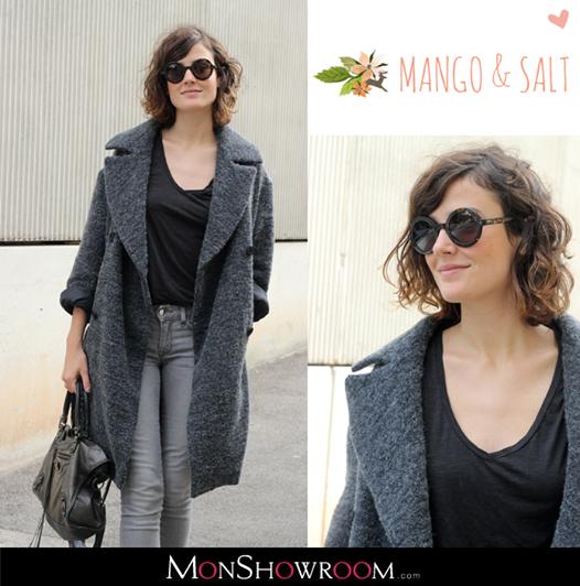 Manteau laine alpaga femme