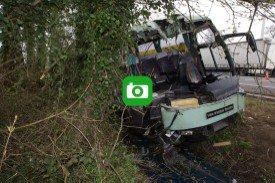 Un bus accidenté sur la E40 à Aalter: le parquet enquête sur les causes de l'accident