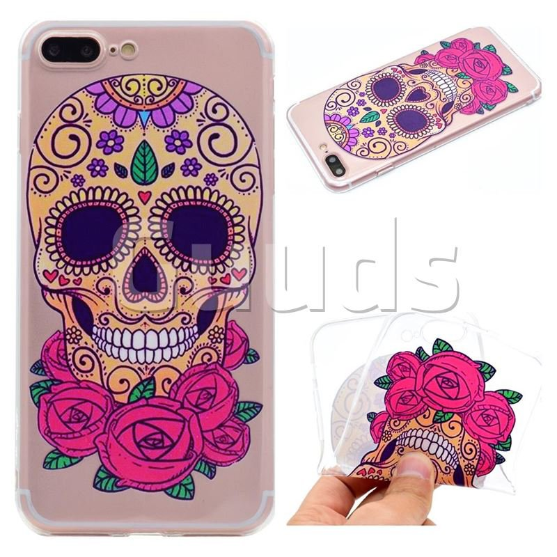 Skeleton Flower Super Clear Soft TPU Back Cover for iPhone 6s Plus / 6 Plus 6P(5.5 inch) - TPU Case - Guuds