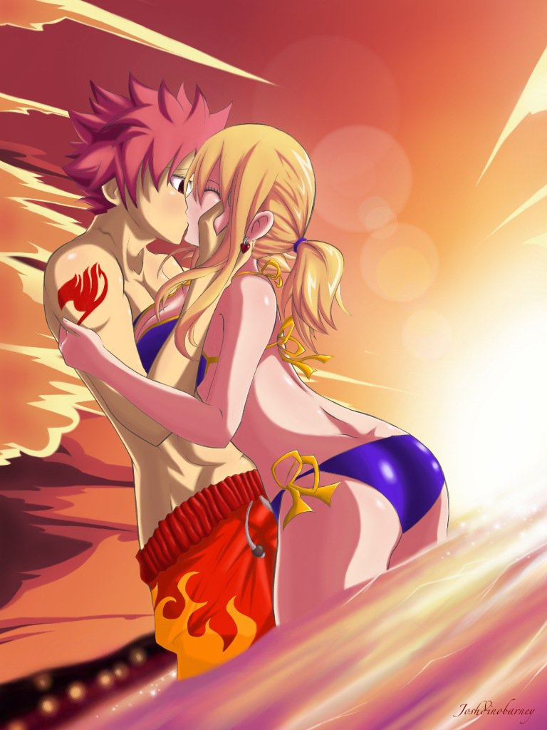 NaLu: Summer's here! The skies cried love... by ~Joshdinobarney on deviantART