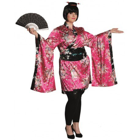 Déguisement geisha femme grande taille : achat Déguisements japonais