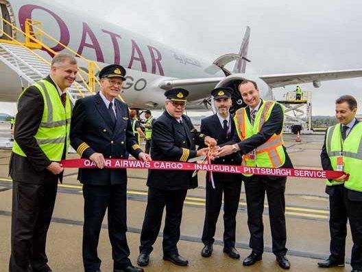 Qatar Cargo's inaugural freighter touches down in Pittsburgh   Air Cargo
