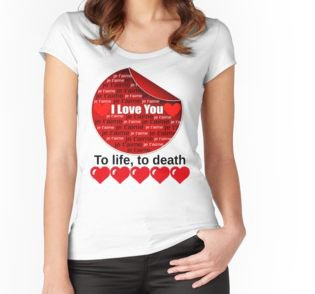 'i love you' T-shirt échancré by Ali-87