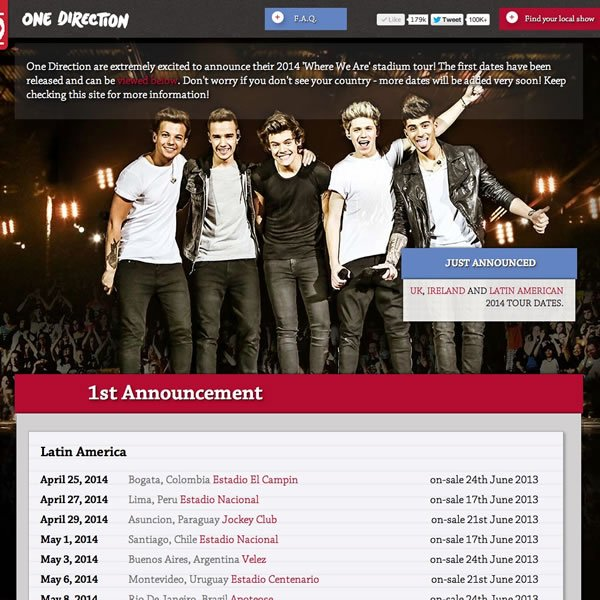 One Big Announcement | 2014 Stadium Tour | #1bigannouncement
