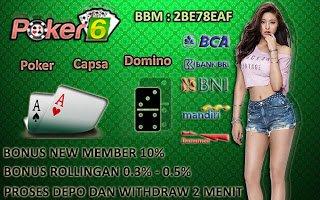 Poker-6: Agen Judi Qiu Qiu Domino Online