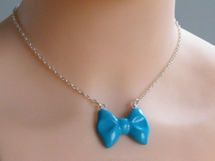 Collier nœud papillon en fimo : Collier par jl-bijoux-creation