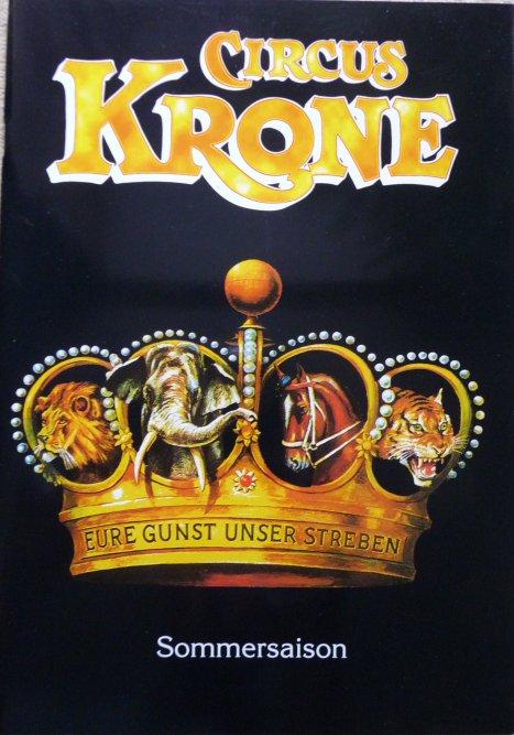 A vendre / On sale / Zu verkaufen / En venta / для продажи :  Programme Circus KRONE 1997 - Tournée Allemande