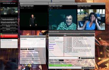 Discuter en direct avec votre micro et votre webcam sur latetedanslenet.com!