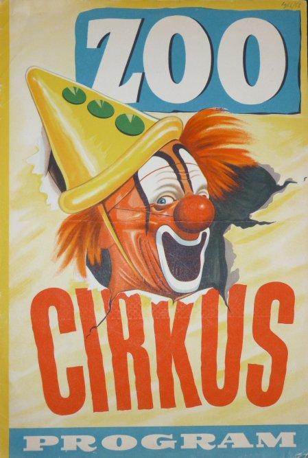 Programme ZOO CIRCUS TROLLE RHODIN 1963