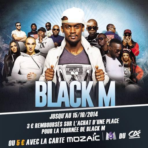 Skyrock Cashback t'offre jusqu'à 5¤ sur l'achat d'une place pour la tournée de Black M !