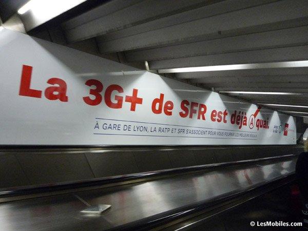 SFR et la RATP lancent la 3G+ dans le métro parisien