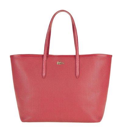 sac cabas chantaco en cuir enduit lacoste en rouge galeries lafayette tendance mode femme. Black Bedroom Furniture Sets. Home Design Ideas