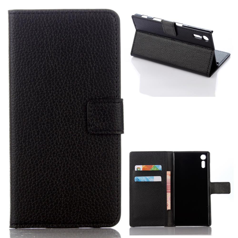Guuds для Sony Xperia XZ кожаный чехол личи кожаный бумажник чехол для Sony XZ/XZ Dual Бесплатная доставкакупить в магази?...