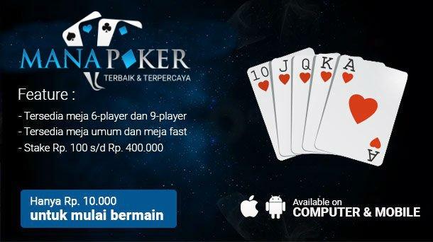 Situs Bandar Poker Online Terpercaya di Android | Manapoker