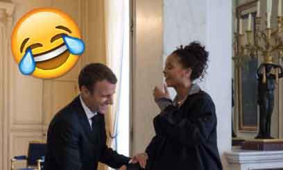 En images : les blagues les plus drôles des internautes sur la rencontre Emmanuel Macron/Rihanna | Planet