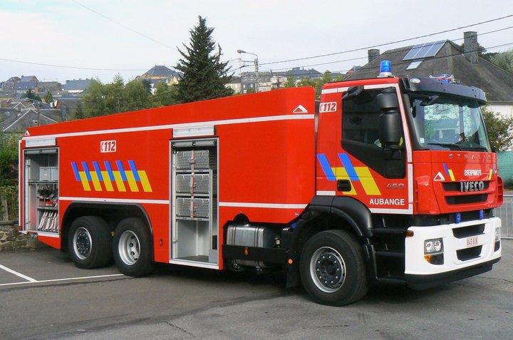 un camion de pompier