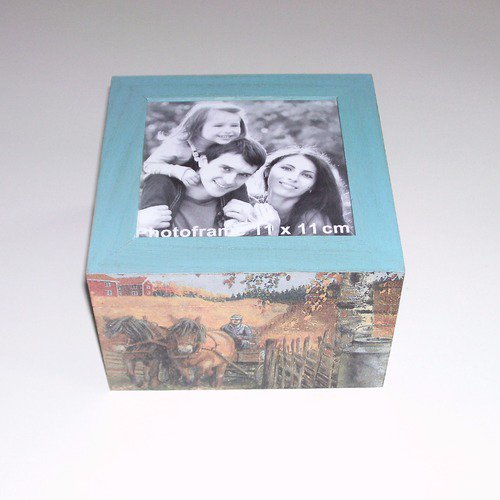 Boîte à photo chevaux de trait