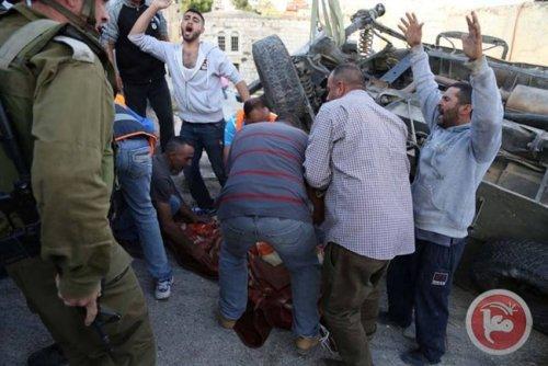 L'armée d'occupation écrase un Palestinien et l'oblige à agoniser sur (...) - CAPJPO - EuroPalestine