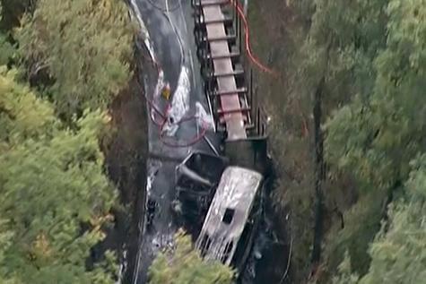 23-10-2015 - France - Puisseguin (Gironde) - Un accident entre un a...