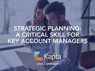 Strategic Planning for Account Managers Kapta - Télécharger - 4shared - Todd Brent