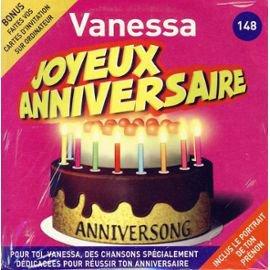 Anniversong - Joyeux Anniversaire Vanessa: CD Album - PriceMinister
