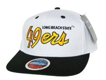 Casquette Neuve Ajustable Officielle NCAA - LONG BEACH State 49ers Snapback - Blanche/Noire/Or: Amazon.fr: Bienvenue