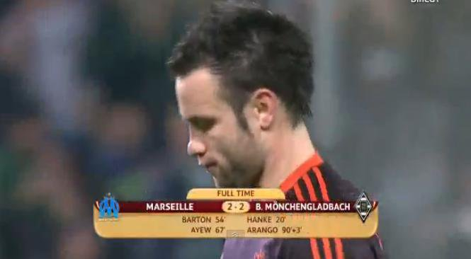 Fin du match : OM 2 - 2 M'Gladbach