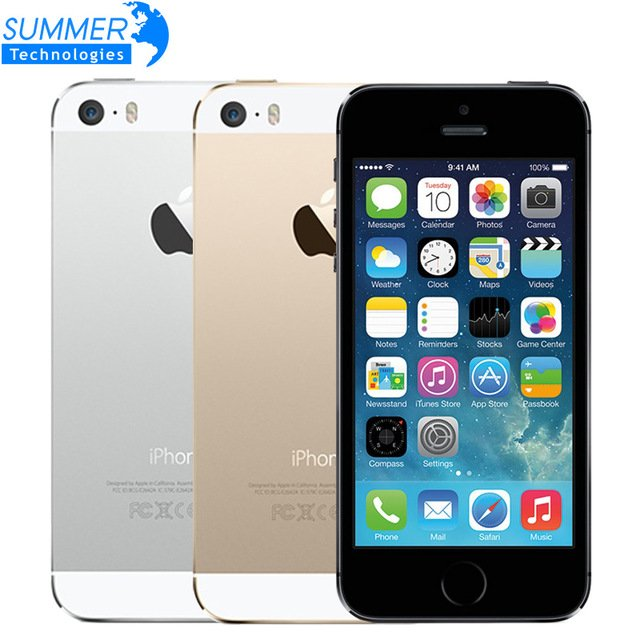 "US $ 154.98 Original Apple iPhone 5S Unlocked Mobile Phone 4.0"" IPS HD Dual Core A7 GPS iOS 8MP 16GB/32GB/64GB iPhone5S Used Smartphone-in Mobile Phones from Cellphones & Telecommunications on Aliexpress...."