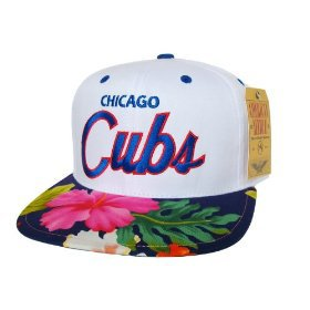 Casquette Chicago Cubs Customisee avec un Tissu imprime Floral Hawaien - Snapback Officielle MLB - EDITION LIMITEE: Amazon.fr: Bienvenue
