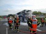 Le Télégramme - Finistère - Pont-de-Buis (29).Un bus en feu bloque la voie express [Diapo]