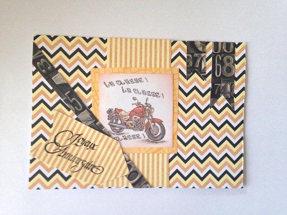 Carte pour anniversaire pour motard : Cartes par del-crea-fete