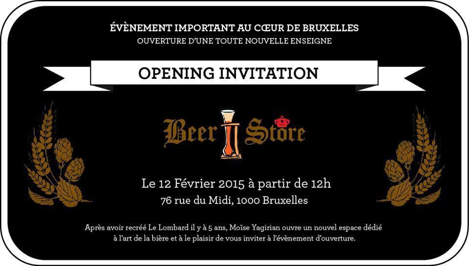 Beer Store, une nouvelle enseigne dédiée à la Bière à Bruxelles