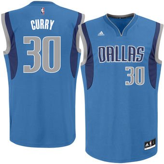 Men's Dallas Mavericks #30 Seth Curry adidas Royal Road Replica Jersey