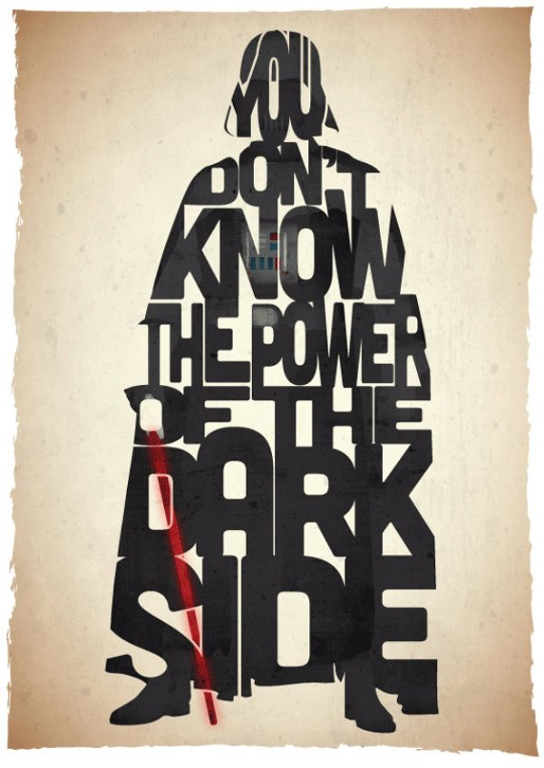 These Star Wars Typography Prints are Pure Win