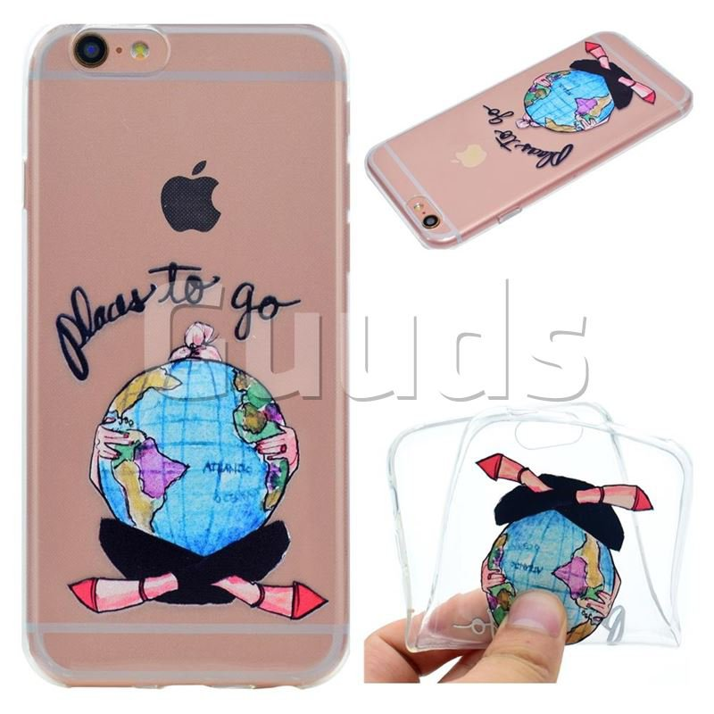 Global Travel Super Clear Soft TPU Back Cover for iPhone 6s Plus / 6 Plus 6P(5.5 inch) - TPU Case - Guuds