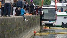 Honfleur : l'autocar tombé dans le port a été repêché - France 3 Basse-Normandie