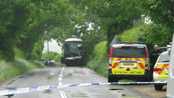 Road remains closed after school bus crash | Meridian - ITV News