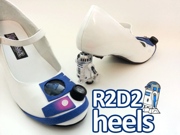 Make Your Own R2-D2 Heels Complete With Blinking Lights [DIY]