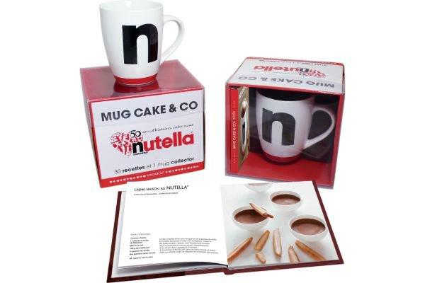 Coffret Livre de cuisine HACHETTE MUGCAKES & CO NUTELLA