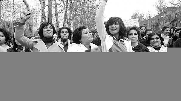 Photographie: femmes iraniennes contre le port du voile en 1979