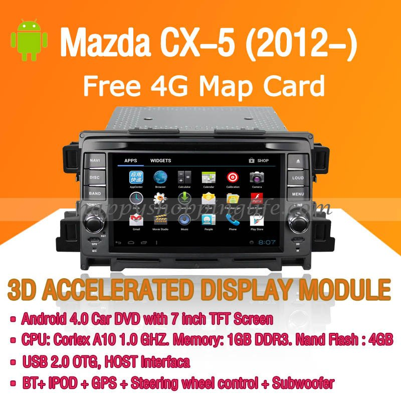Mazda CX5 Android Auto Radio DVD GPS Digital TV 3G Wifi