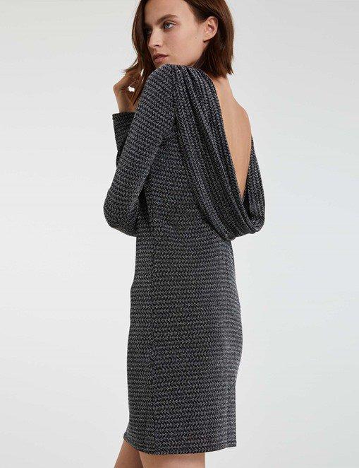 Robe métallisée à dos bénitier Morgan - Robe Morgan - Ventes-pas-cher.com