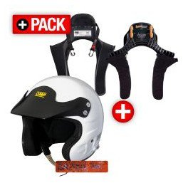 PACK Casque OMP JET 7 HANS+ HANS Club Series 20 TM-L Stand21 - LB Competition