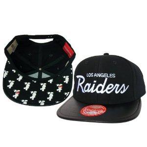 Casquette Los Angeles Raiders Customisee avec du Cuir Noir et un tissu Japonais imprime Mickey Mouse - Snapback Officielle NFL - EDITION LIMITEE: Amazon.fr: Bienvenue
