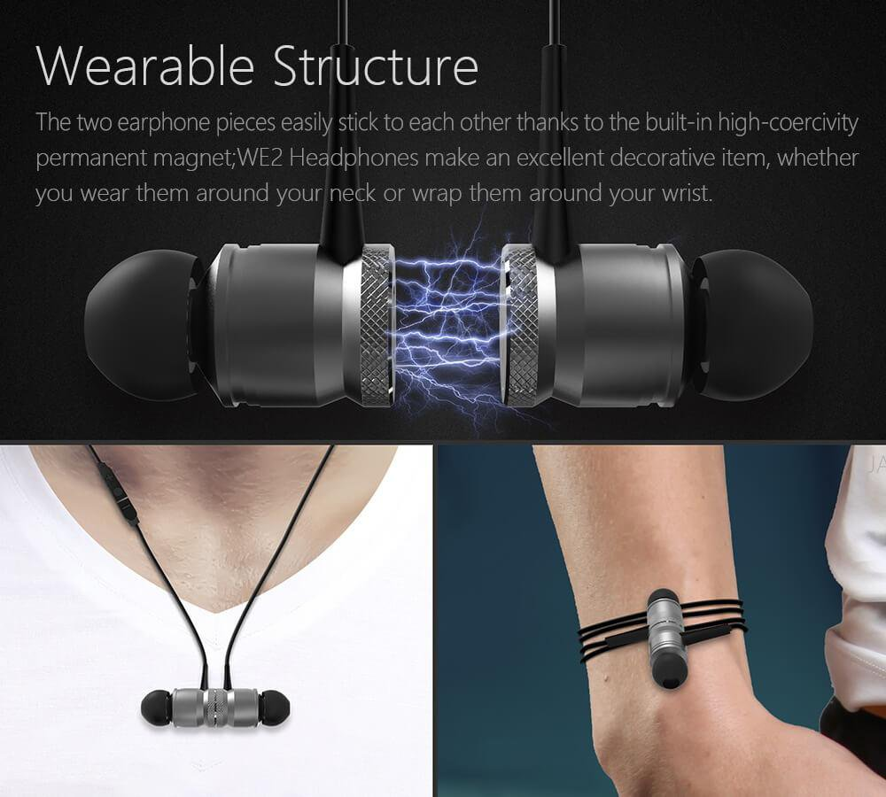 JAKCOM WE2 wearable Bluetooth earphone