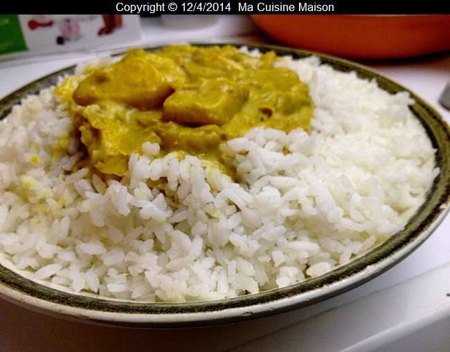 RIZ INDIEN AU CURRY