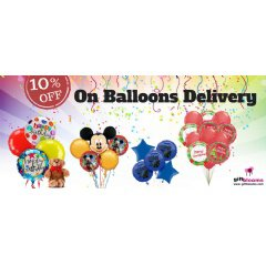 GiftBlooms Announces 10% Off On Colorful Balloons Delivery for Xmas Season