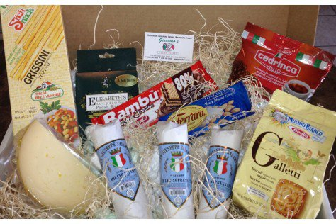 Italian Food Gift Baskets | Giacomo's Medium Gift Box | Gift Baskets Online | Cheese Gift Baskets