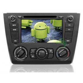Android 4.0 Auto DVD Player GPS Navigationssystem für BMW E81 1 Series(2004 2005 2006 2007 2008 2009 2010 2011 2012) Türen Fließheck (manuelle Klimaanlage+beizbarer Sitz)